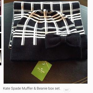 NWT Kate Spade muffler & beanie box set